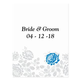 Economias formais o floral azul dos cartão das cartão postal