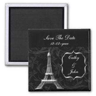 economias francesas do casamento da torre Eiffel Ímã Quadrado