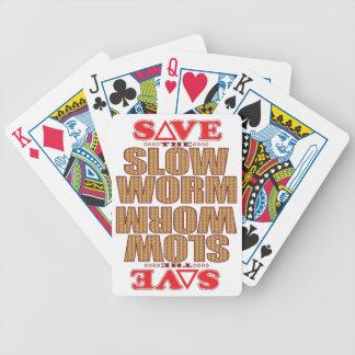 Economias lentas do sem-fim baralhos para pôquer