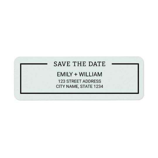 Economias minimalistas da cor editável a data etiqueta endereço de retorno