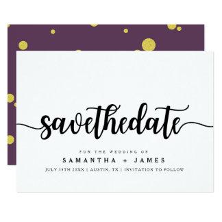 Economias minimalistas do roteiro o cartão do convite 12.7 x 17.78cm