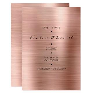 Economias mínimas o tanoeiro do ouro do rosa do convite 8.89 x 12.7cm