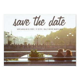 Economias modernas a foto do casal da data | convite 12.7 x 17.78cm