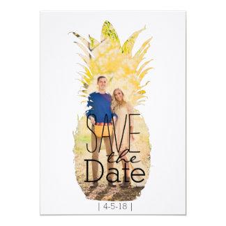 Economias modernas do abacaxi o casamento tropical convite 12.7 x 17.78cm