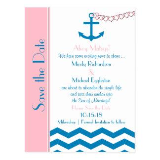 Economias náuticas do casamento o cartão da data