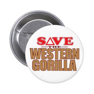 Economias ocidentais do gorila bóton redondo 5.08cm