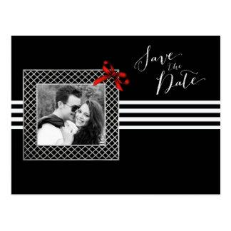 Economias preto e branco elegantes da foto a data cartão postal