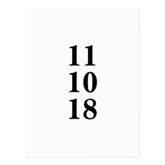 Economias preto e branco simples o cartão da data