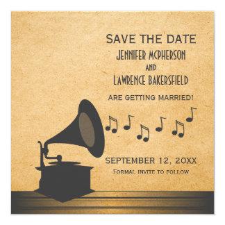 Economias que cinzentas do gramofone do vintage a convite
