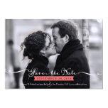 Economias românticas da foto do roteiro do vintage convite personalizado