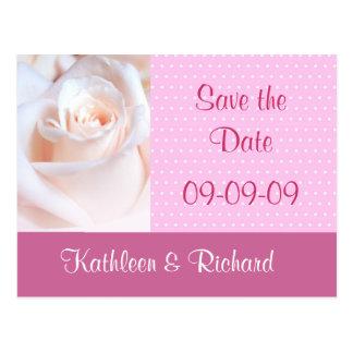 Economias românticas do rosa o cartão da data cartao postal