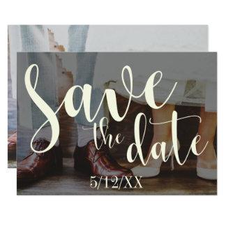 Economias românticas macias da tipografia 30 da convite 12.7 x 17.78cm