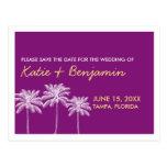Economias roxas do chique do casamento do verão da cartão postal