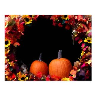 Economias rústicas do casamento outono o outono do cartão postal