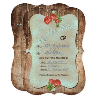Economias rústicas do ~ do casamento o cartão de