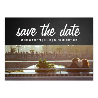 Economias rústicas do quadro a foto do casal da convite 12.7 x 17.78cm