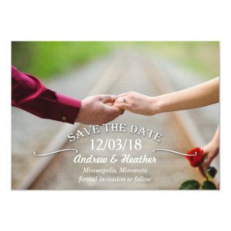 Economias simples do casamento do redemoinho a convite 12.7 x 17.78cm