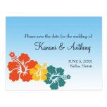 Economias tropicais da flor havaiana do hibiscus a cartao postal