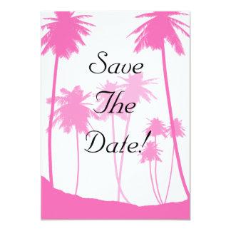 Economias tropicais do casamento das palmeiras do convite 12.7 x 17.78cm