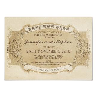 economias velhas antigas do vintage o cartão de convite 11.30 x 15.87cm