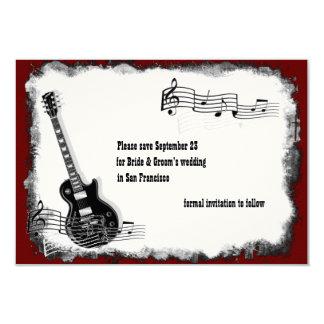 Economias vermelhas da música do preto da guitarra