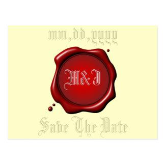 Economias vermelhas do selo o modelo do cartão da
