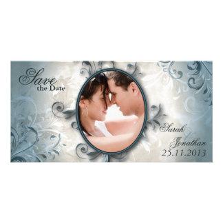 Economias Wedding a folha do vintage do anúncio da Cartão Com Foto