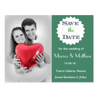 Economias Wedding o cartão da foto da data Cartão Postal