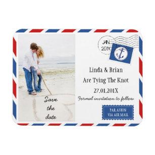 Economias Wedding o ímã do envelope do correio