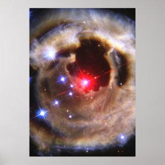 Ecos claros da estrela Supergiant vermelha V838 Mo Impressão