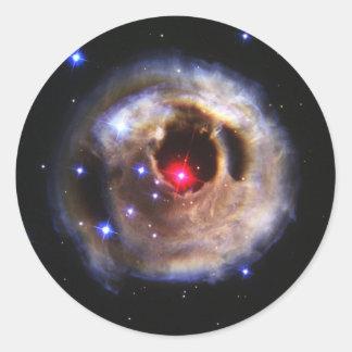Ecos claros de um vermelho Supergiant Adesivo Em Formato Redondo