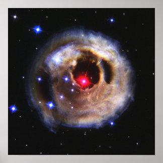 Ecos claros de um vermelho Supergiant