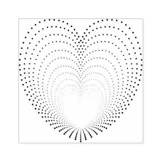 Ecos pontilhados do coração carimbo de borracha