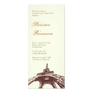 Ecru formal do baile de formatura da bola da torre convite personalizados