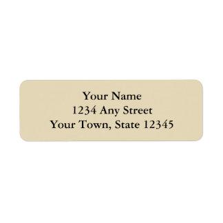 Ecru ou etiquetas de endereço do remetente