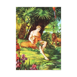 Eden Adam no jardim Impressão Em Canvas