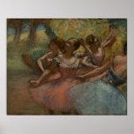 Edgar Degas - 4 bailarinas no dançarino 1885-90 do Pôsteres