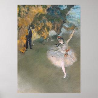 Edgar Degas | a estrela, ou dançarino no palco Pôster
