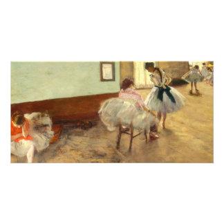 Edgar Degas a lição de dança Cartão Com Foto