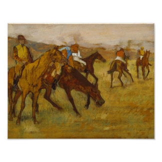 Edgar Degas - antes da raça Pôster