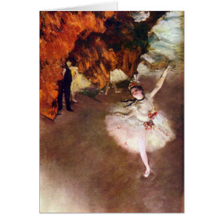 Edgar Degas - bailarina de Prima Cartão