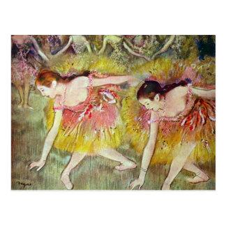 Edgar Degas - dançarinos de balé Cartoes Postais