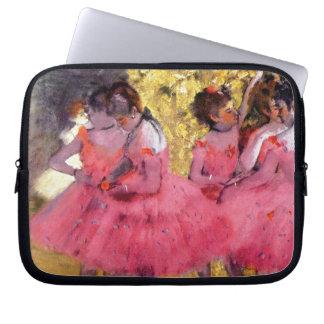 Edgar Degas - dançarinos no rosa - amante da dança Capas Para Notebook