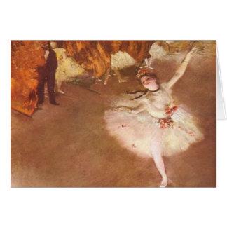 Edgar Degas o cartão da estrela