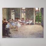 Edgar Degas - óleo da classe 1873 do ensaio do bal Posteres