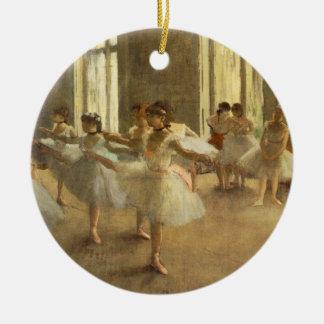 Edgar Degas Ornamento De Cerâmica Redondo