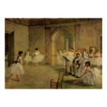Edgar Degas - rua Peletier 1872 de Salão do balé d Posteres