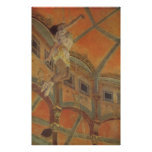 Edgar Degas - trapézio 1879 da Senhora Lala Circo  Pôsteres