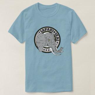 Edição do elefante do selo do safari camiseta