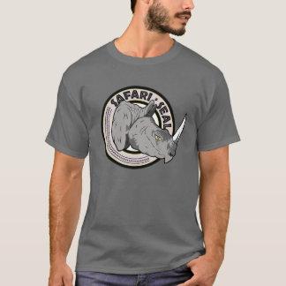 Edição do rinoceronte do selo do safari camiseta